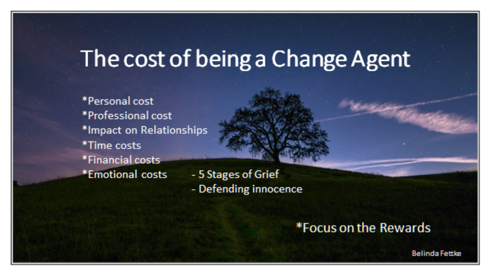 Cost Of Being A Change Agent