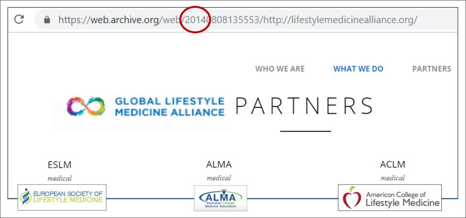 2014 Global Lifestyle Medicine Alliance Website Eslm Alma Aclm