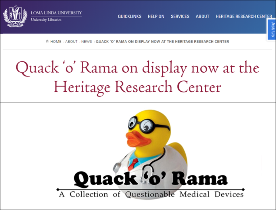 Quackery Loma Linda Display Centre 2