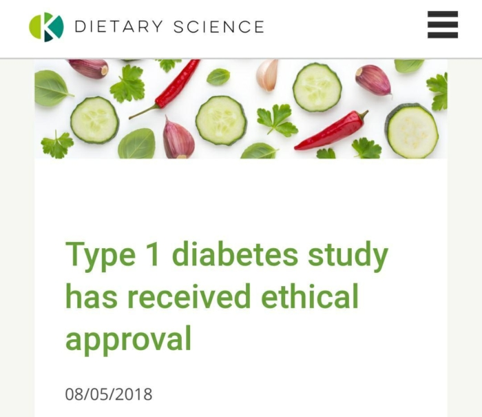 Type 1 Diabetes Ethics Approval