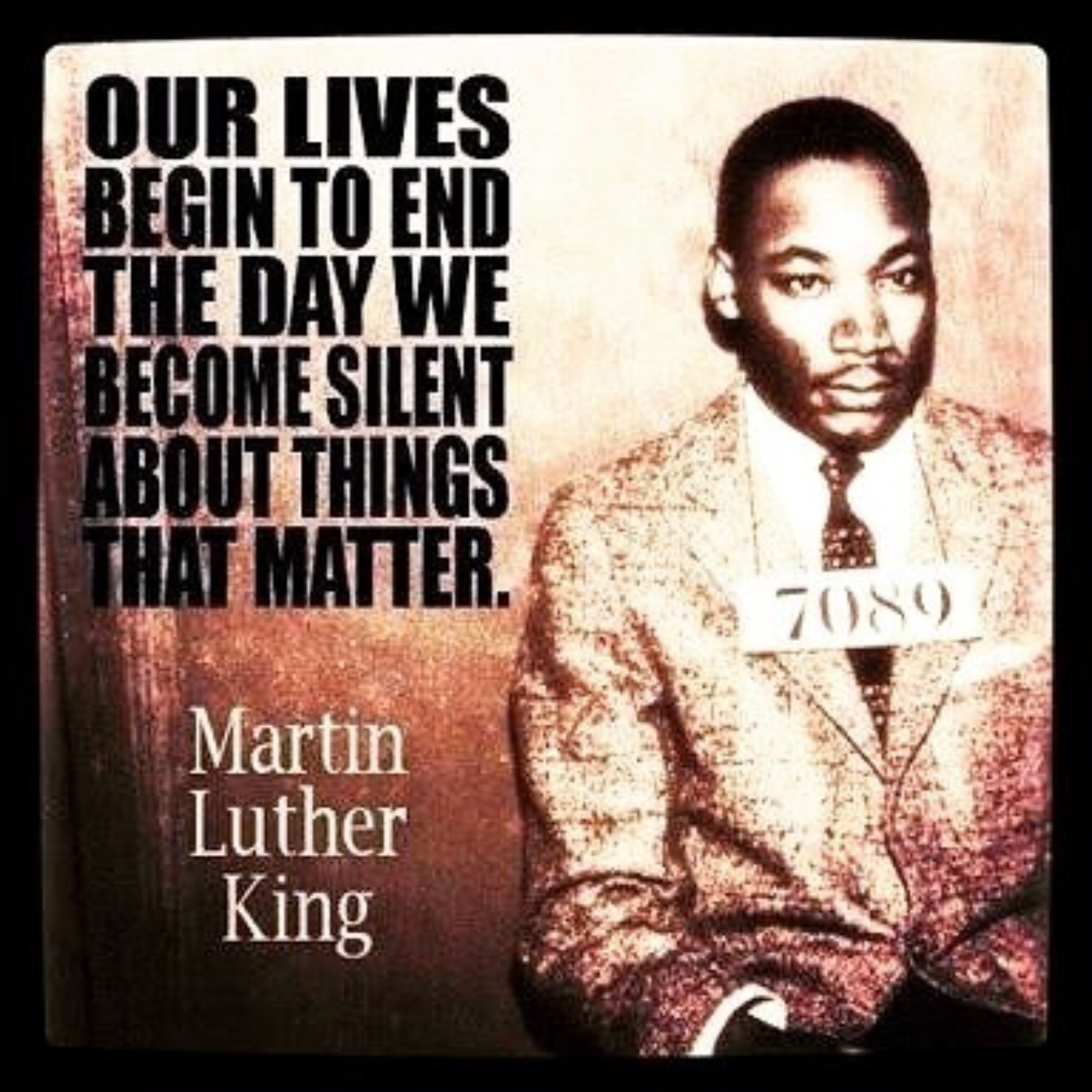 Our Lives Begin To End The Day We Become Silent About Things That Matter